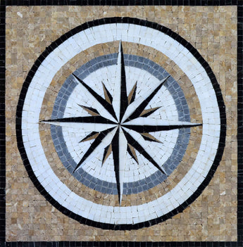 Blue Wind Rose Mosaic -  Ella