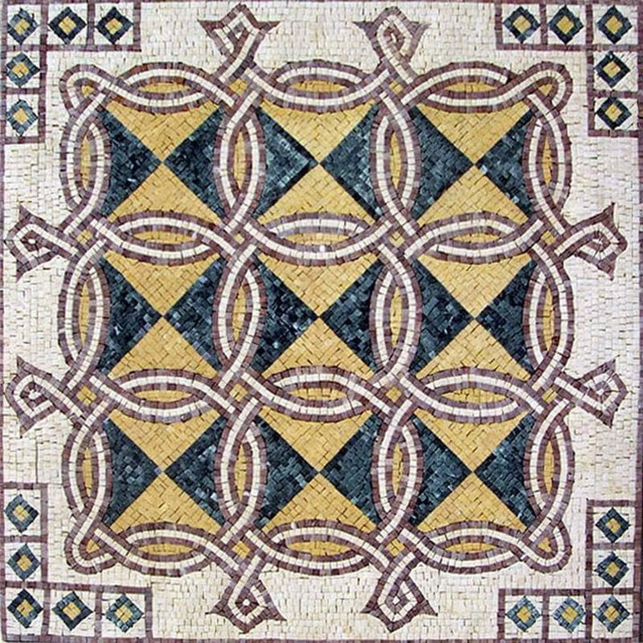 Geometric Mosaic Art Tile - Alba