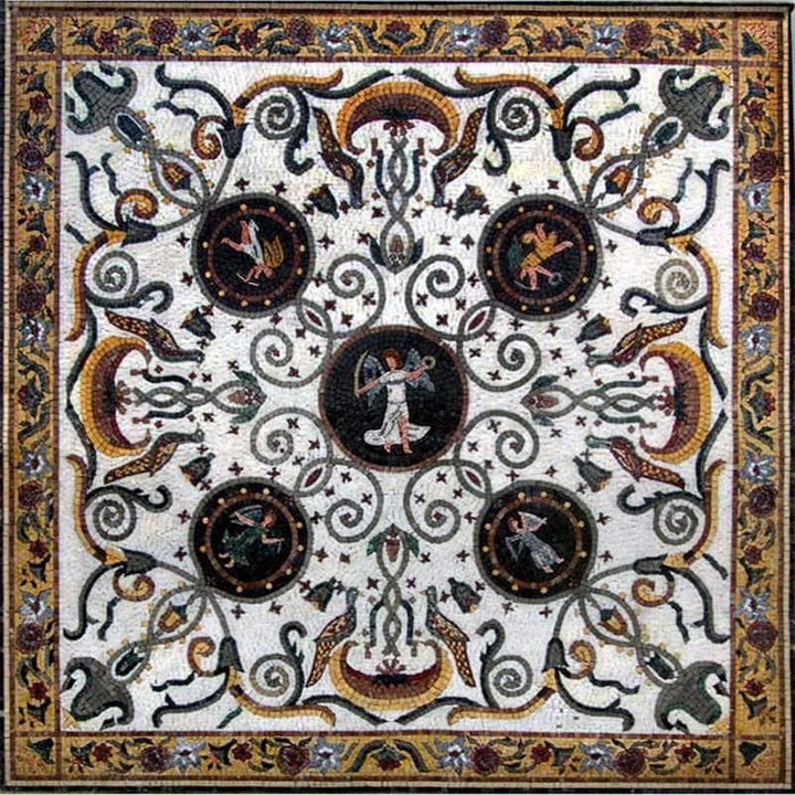 Greek Art Mosaic Square - Angelos