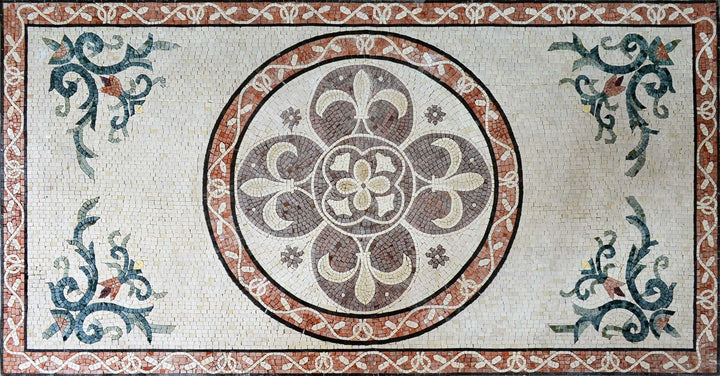 Carpet Design Marble Mosaic tiles