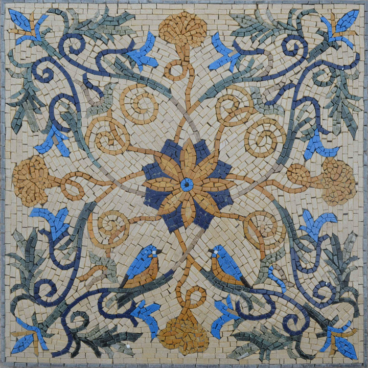 Vine and Flower Mosaic - Saniya II