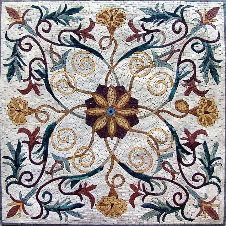 Vine and Flower Mosaic - Saniya
