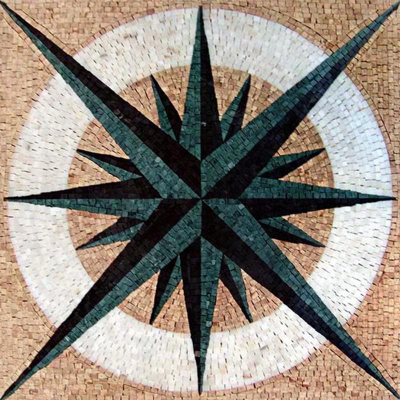 Nautical Mosaic Square - Doris