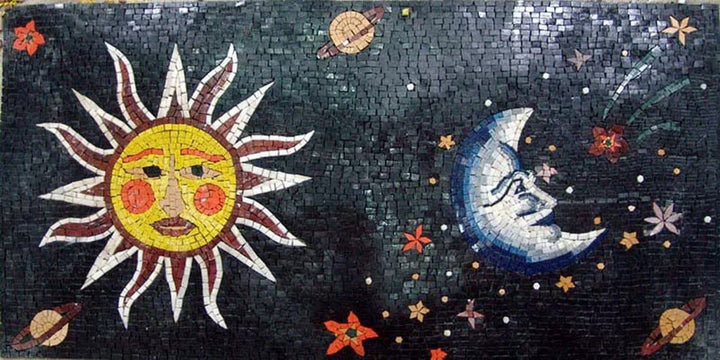Mosaic Artwork - Cosmic Scene