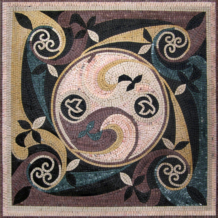 Geometric Mosaic Square - Juliette