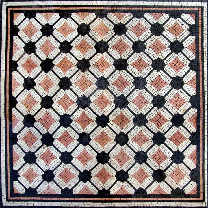 Diamond Geometric Mosaic Tile - Kade