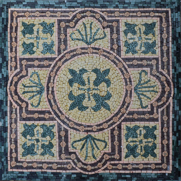 Geometric Floral Square - Cyprian Mosaic