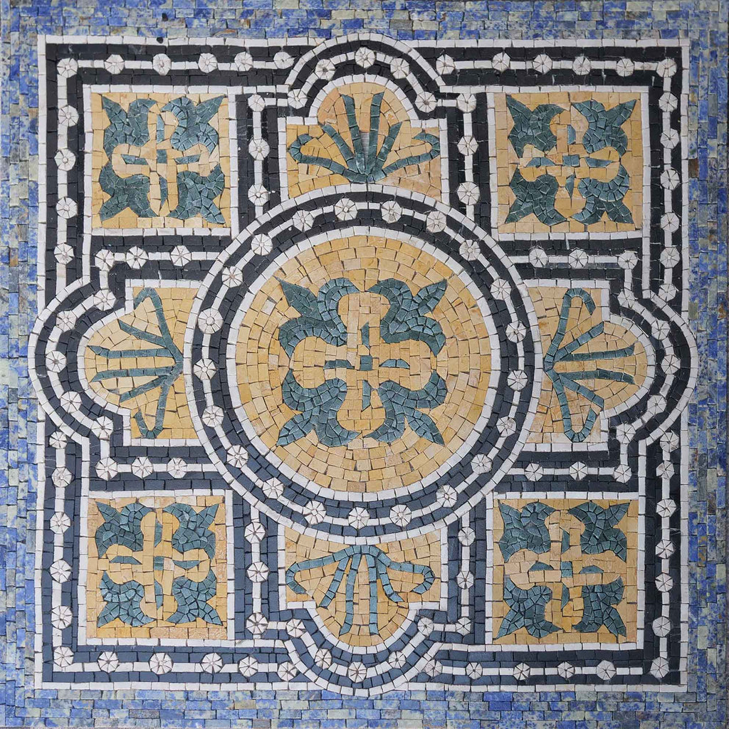 Geometric Floral Square - Cyprian