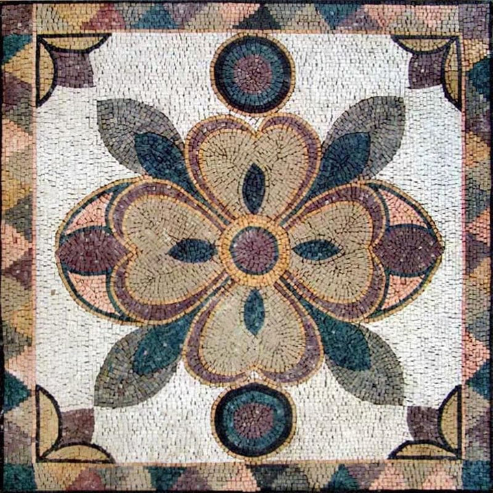 Modern Flower Mosaic Panel - Julia