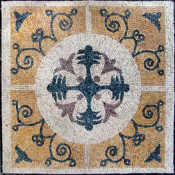 Marble Flower Mosaic - Cross Vinia