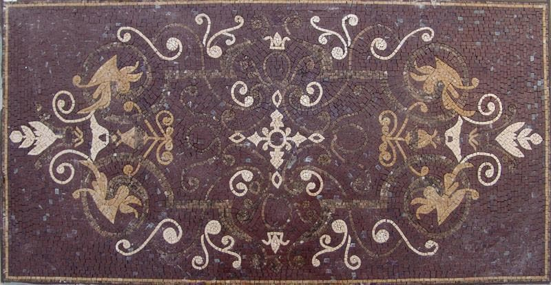 Area Rug Mosaic Ceiba Brown Pic