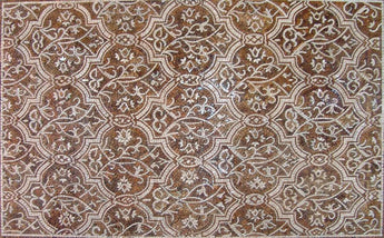 Geometric Marble Mosaic Rug Floor Inlay