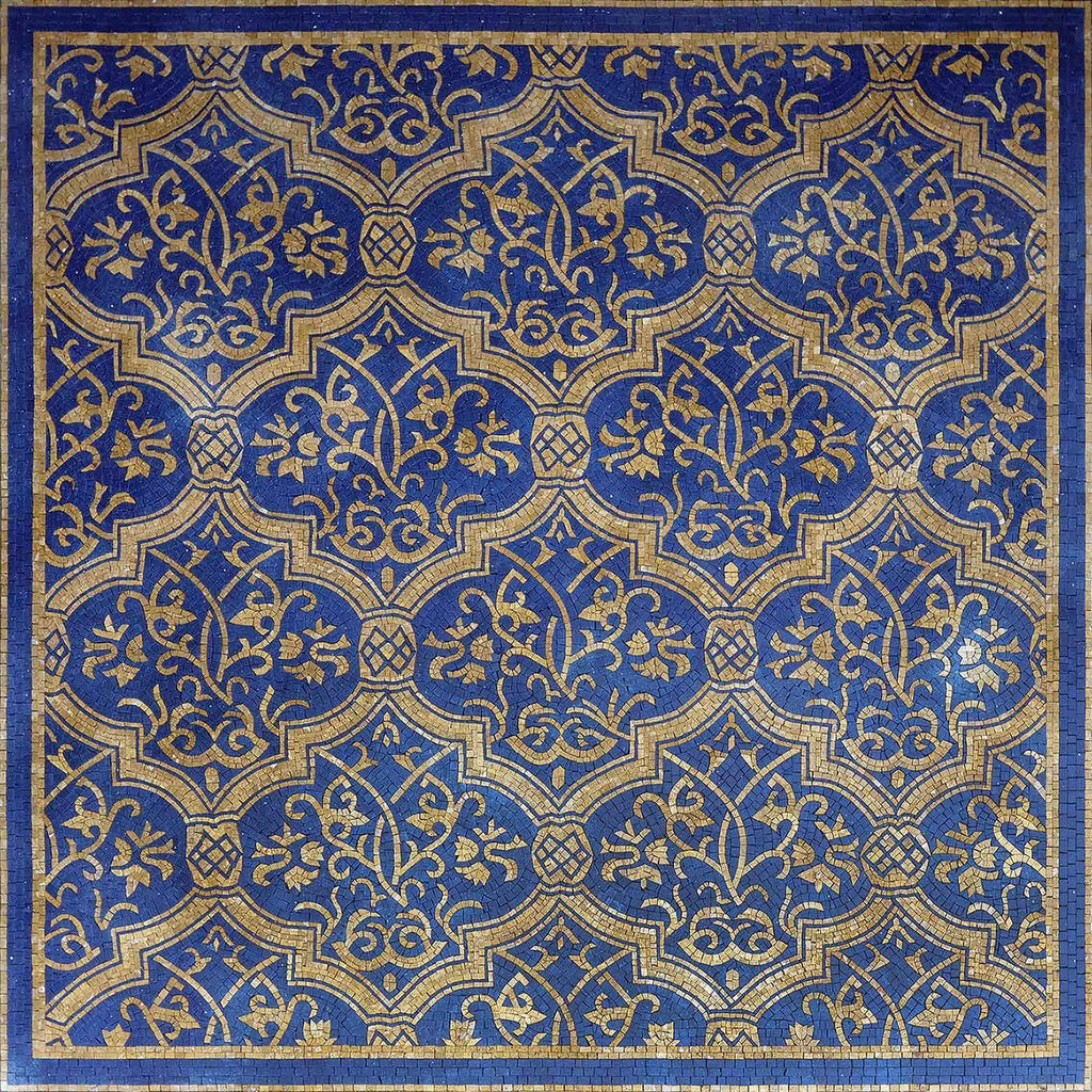 Mosaic Arabesque Pattern - Blue Nights | Patterns | Mozaico