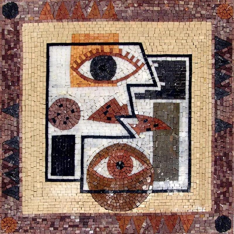 Modern Abstract Mosaic Decor - Eyes