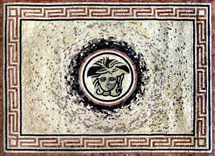 Rectangular Rug Mosaic - Gorgon