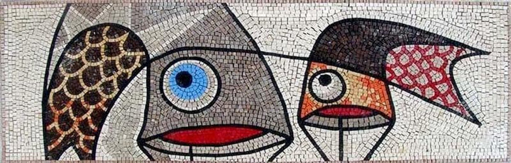 Illustrative Modern Mosaic Animated Fish