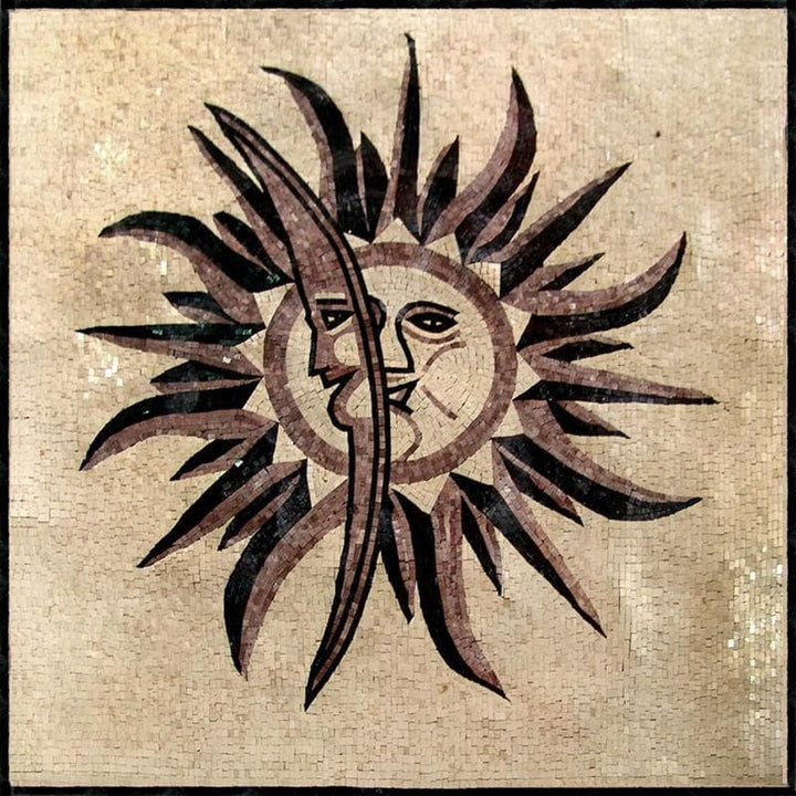 Sun Moon Mosaic Panel - Urania
