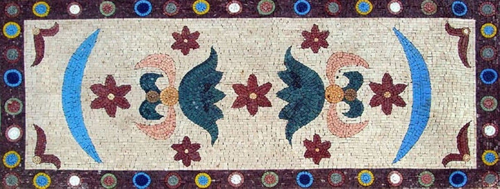 Mosaic Tile Art Rug Design Pattern