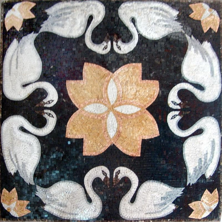Mosaic Patterns - Geometric Swan