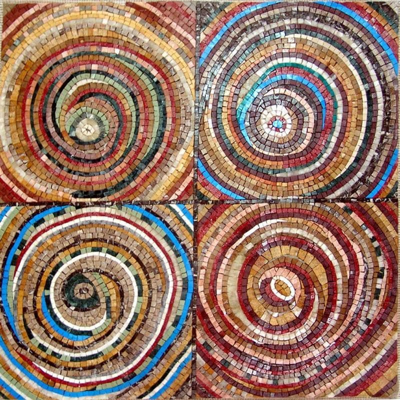 Circle within a circle Design - Abstract Modernism Mosaic