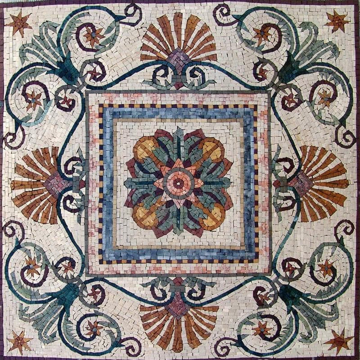 Floral Mosaic Art Panel - Cassia