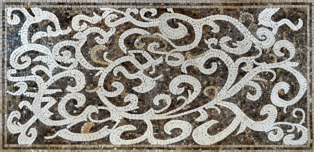 Artistic Mosaic Marble Tile Stones Art Floor or Wall Decor