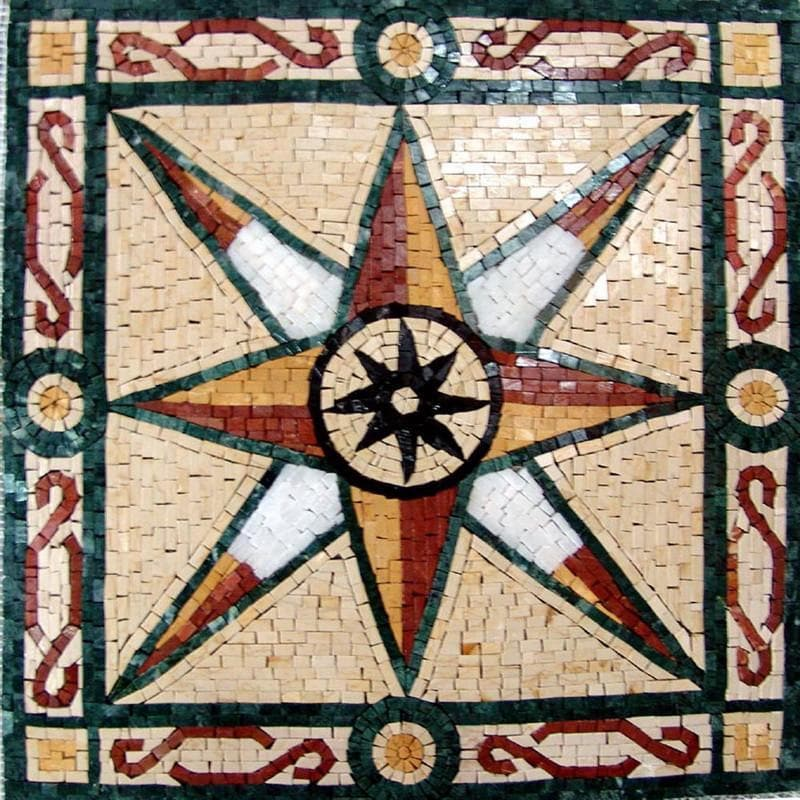 Eve - Compass Mosaic Artwork | Mozaico
