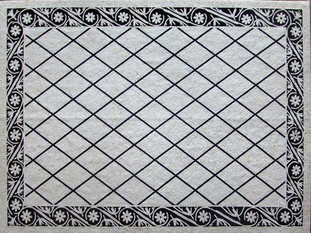 Black And White Pattern Marble Mosaic Pic