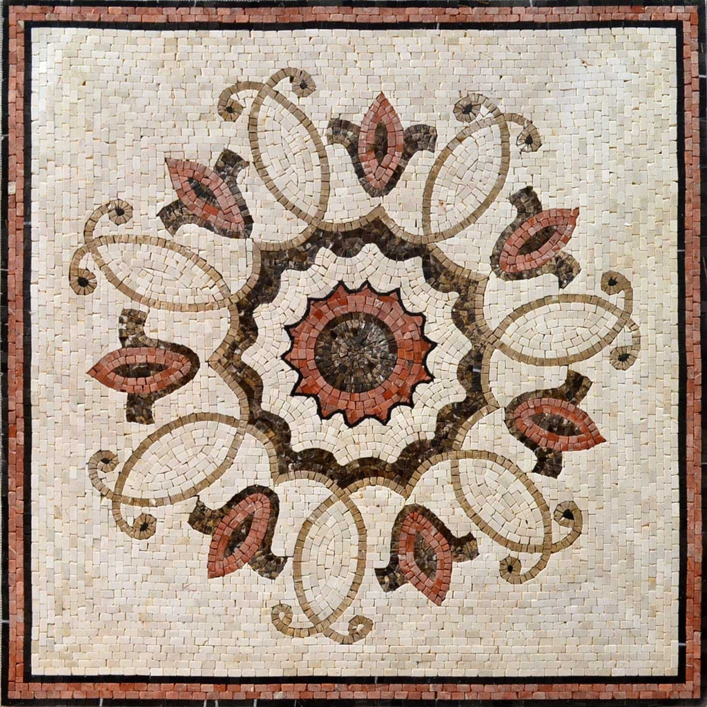 Sienna Floral Mosaic Art Square - Hester