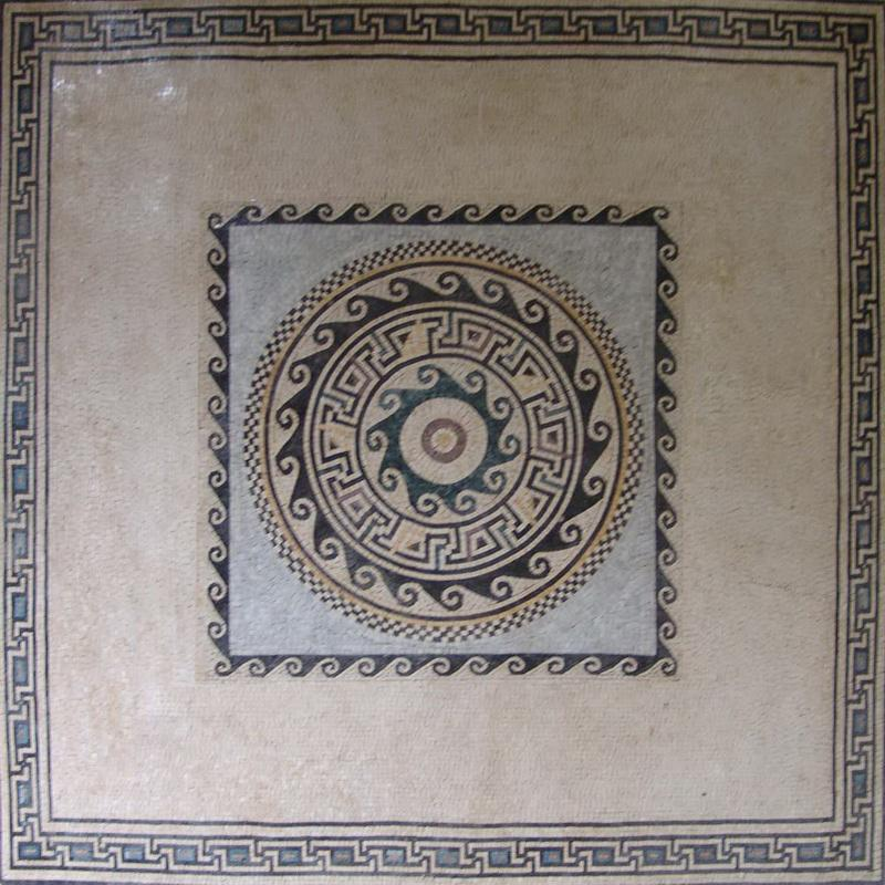 Greco Roman Marble Square Agda Mosaic Pic