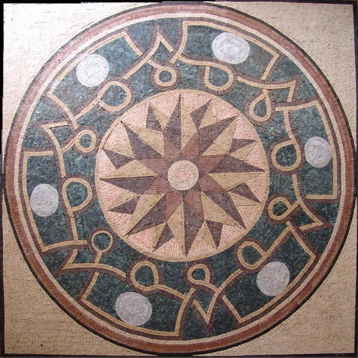Roman Floor Moisac Art Tile - Papillon