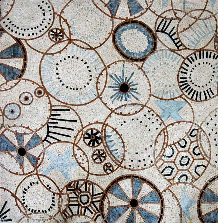 Mosaic Wallpaper- Abstract Circle Patterns