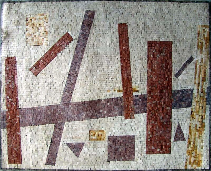 Abstract Mosaic Art - Abstract Cubism