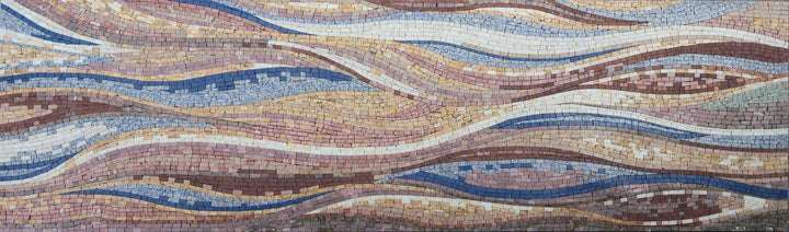 Colorful Waves Mosaic - Wall Art
