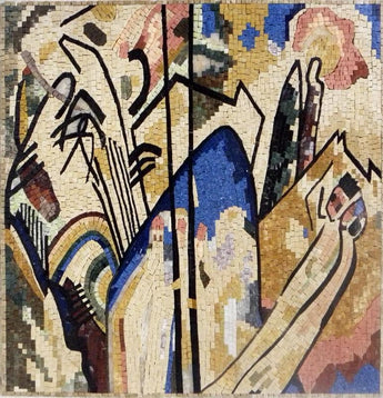 Abstract Mosaic Reproduction - Wassily Kandinsky Mural