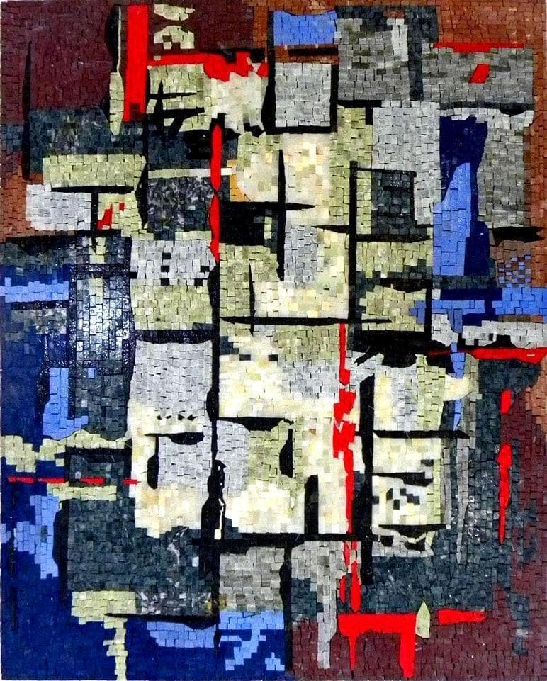 """The Urban"" by Anthony Falbo - Abstract Mosaic Reproduction"