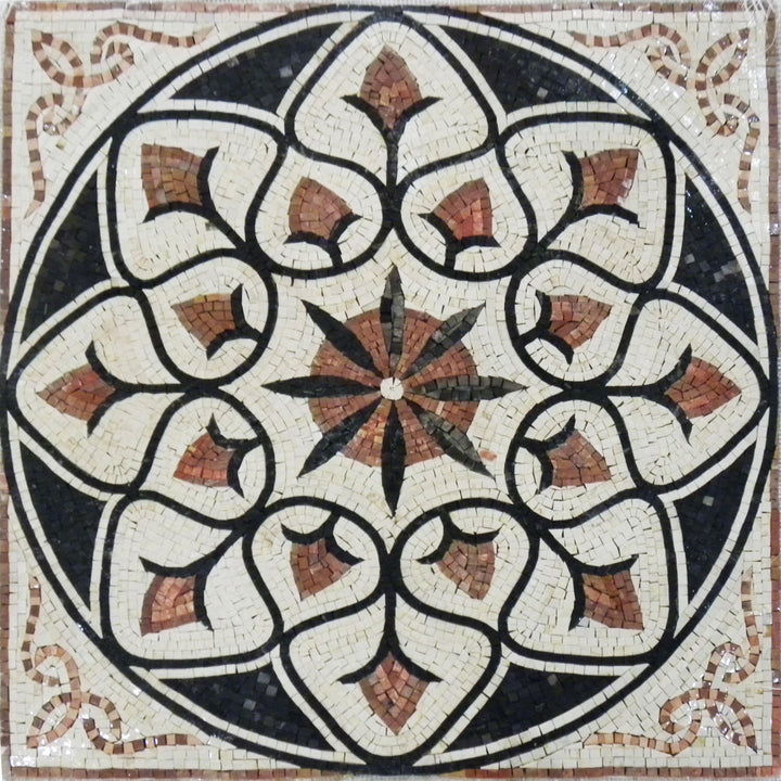 Floral Marble Mosaic - Florentina