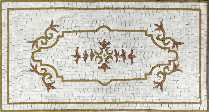 Floral Floor Mosaic With A Classical Design