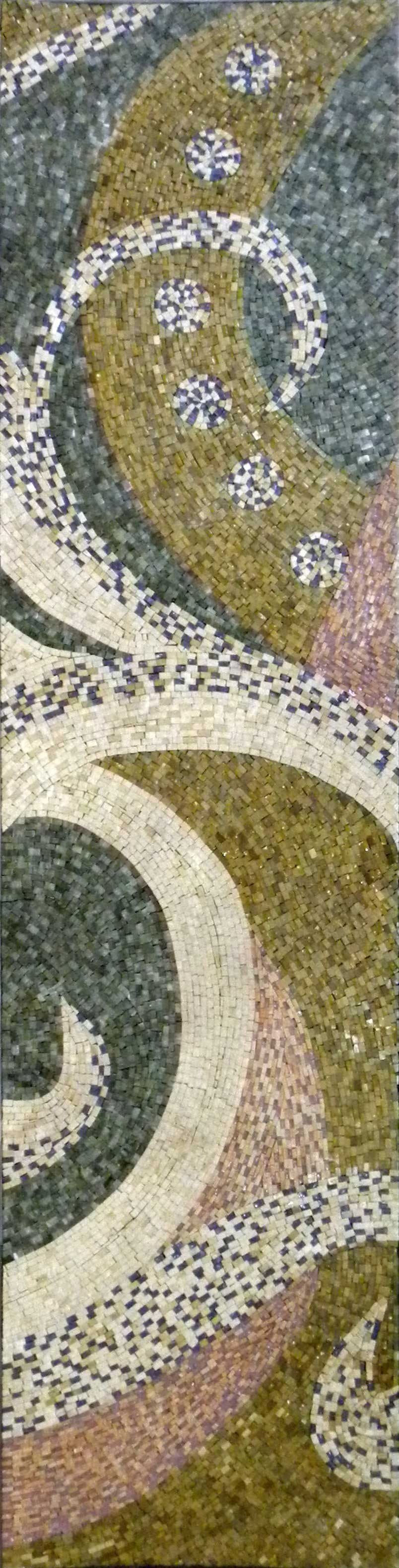 Abstract Mosaic Pattern - Curly Leaves