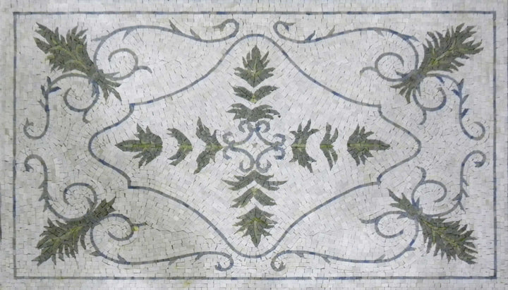 Decorative Palmette Rug Mosaic - Omar