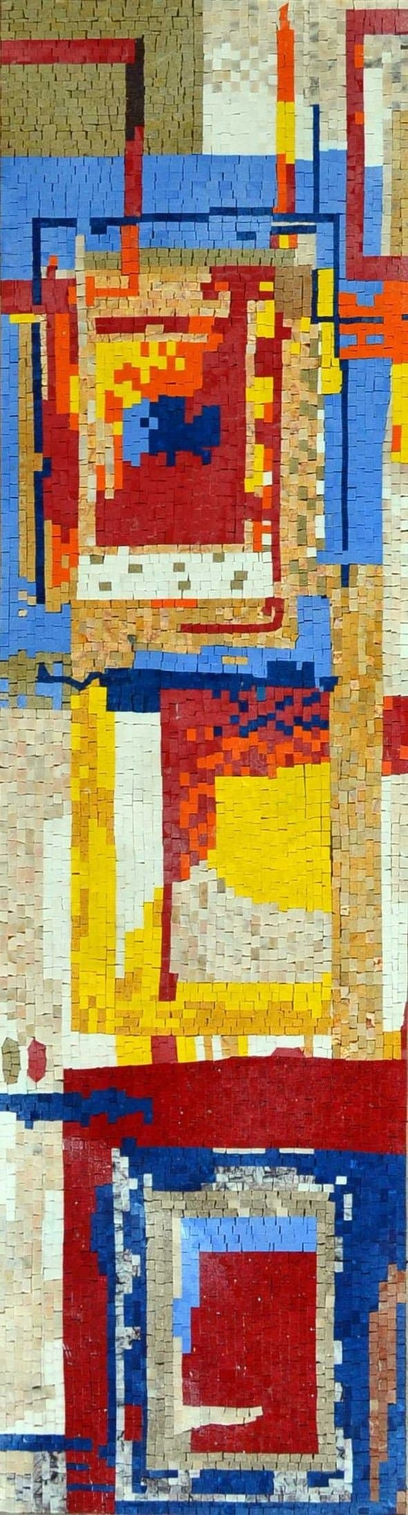 Modern Mosaic Art Colorful Abstract Patterns Abstract