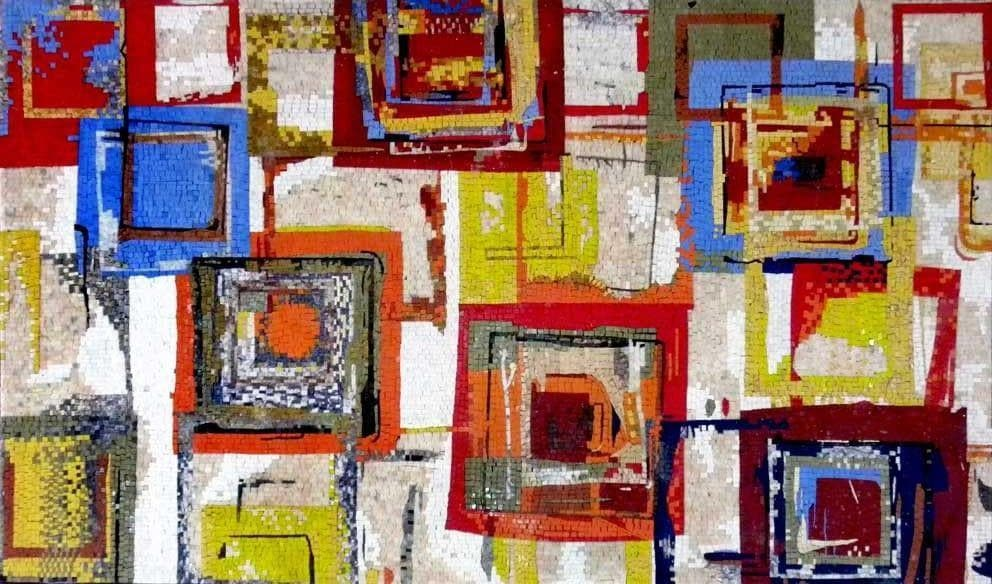 Tutti Frutti by Ricki Mountain - Abstract Mosaic Reproduction