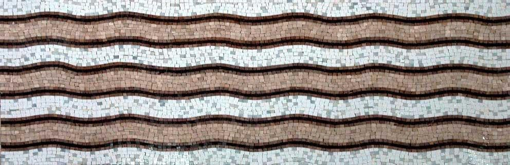 Tribal Wave Pattern Mosaic Marble art