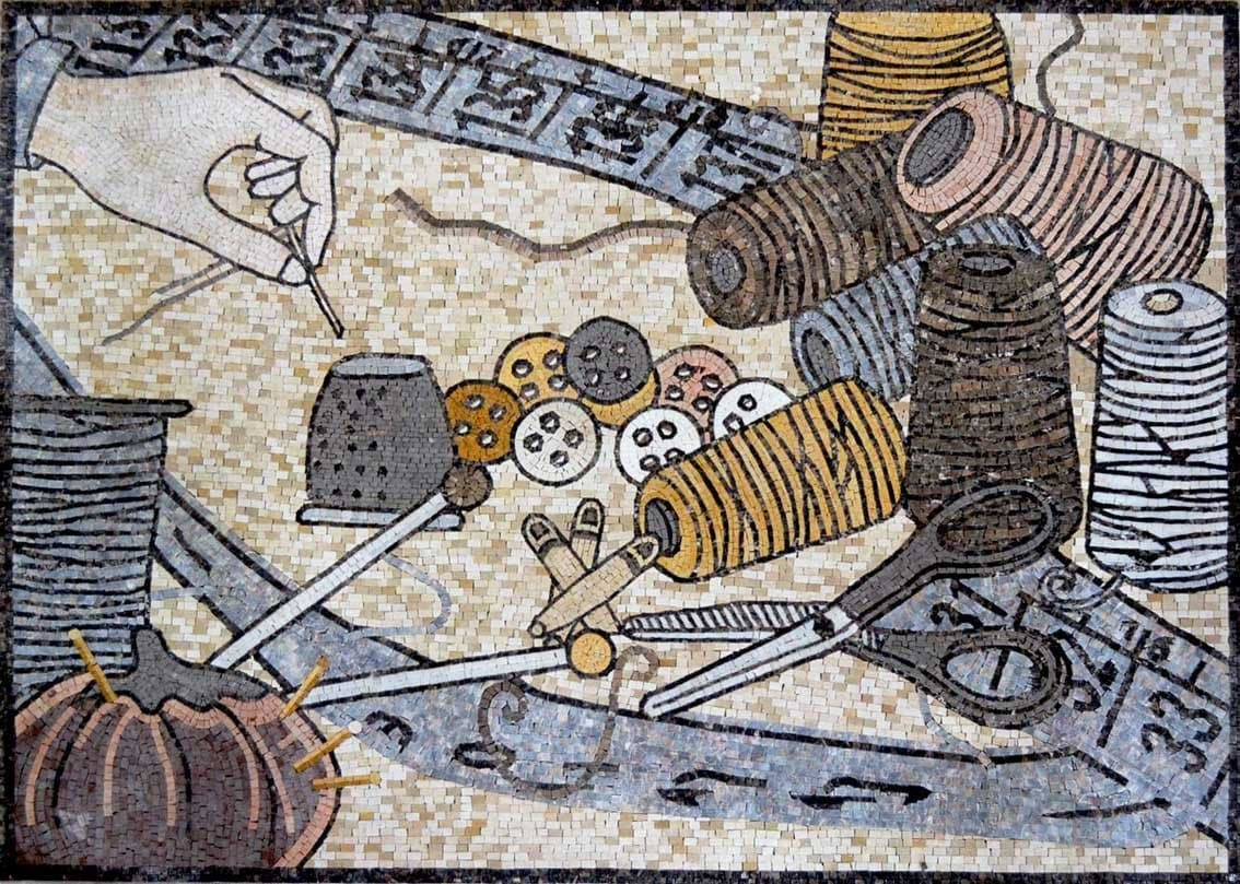 Sewing Accessories Mosaic Art