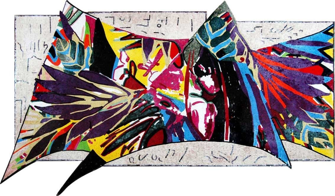 Abstract Mosaic Mural The Contemporaneous Pic