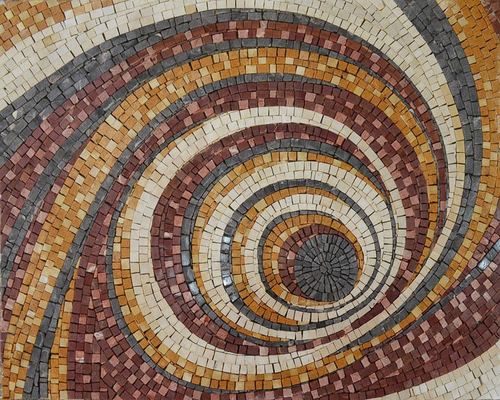 MosaicT esselation Spiral Pattern Mosaic
