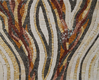 Abstract Snake Pattern Mosaic