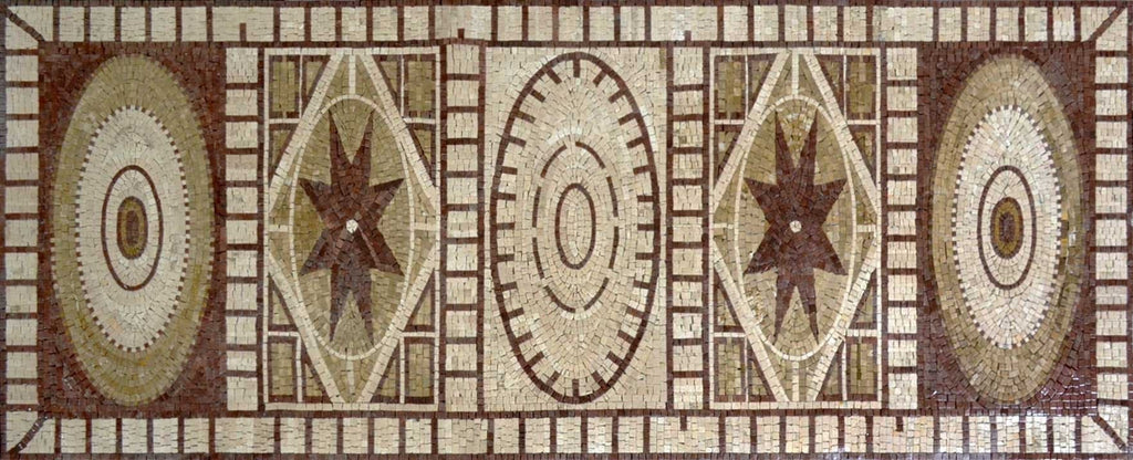 Rectangular Mosaic Art Panel - Gamila