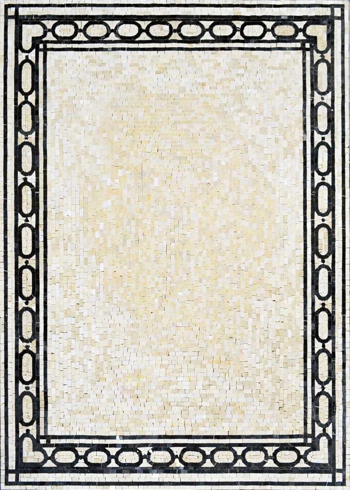 Carpet Design with border  Mosaic Art