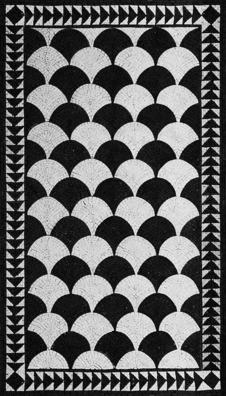Black And White Mosaic Patterns - Fan